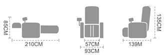 chair sizes for iRest A60