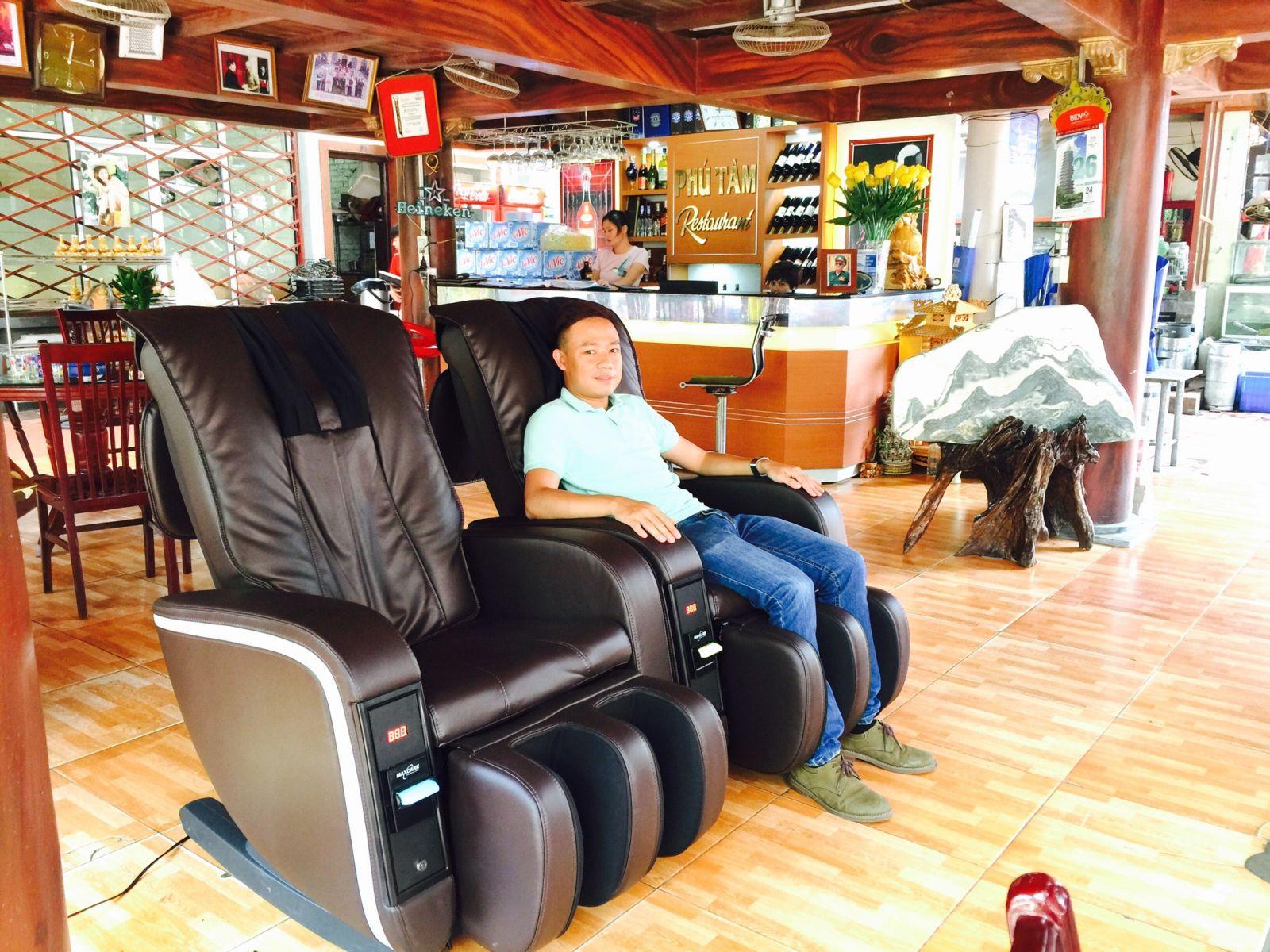 Ghế massage tính tiền, ghế massage bỏ tiền
