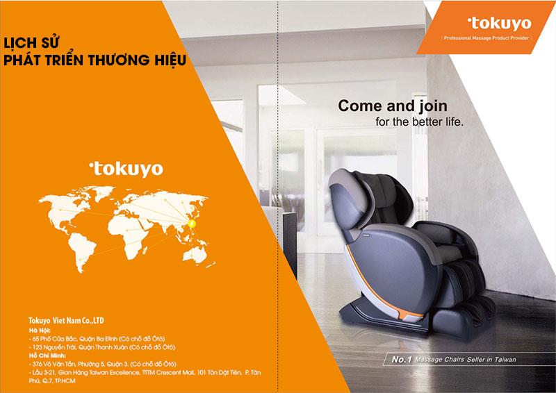 thương hiệu ghế massage Tokuyo