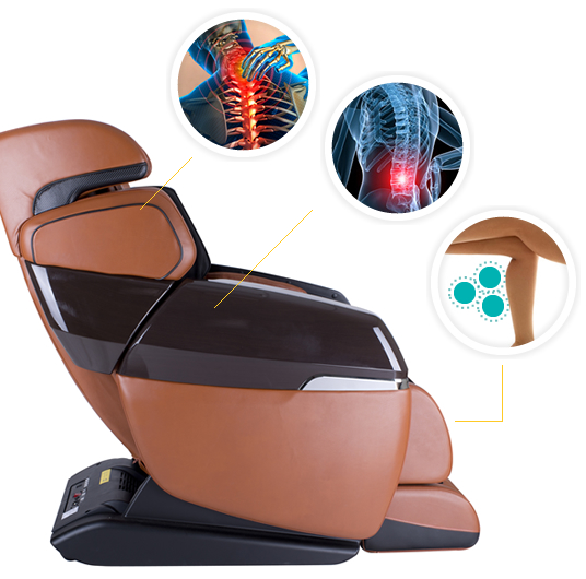 Heating systems for the back and legs. Warm massage.
