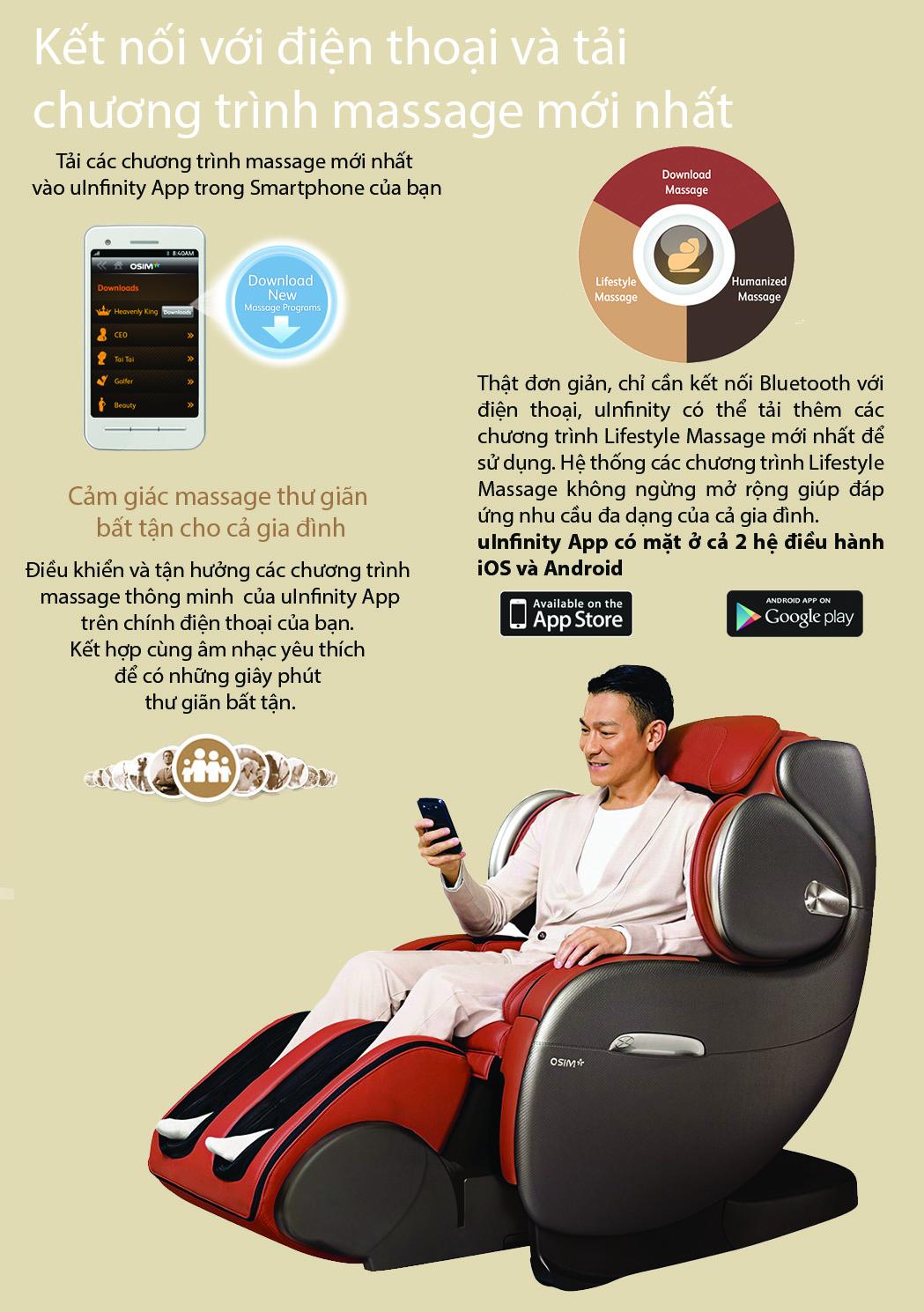 Ghế massage OSIM uInfinity - Tải chương trình massage mới